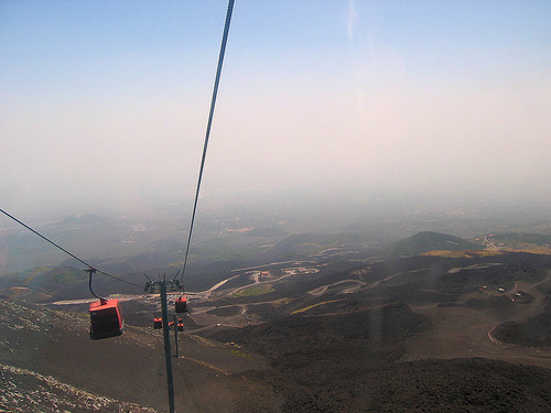 Mount Etna Cable Car Silent Listening